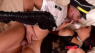 Pilot can'_t wait to fuck his horny wife Kesha Ortega less over the knee boots GP340