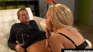 Busty Babe Nikki Benz Gets A Hot Load On Her Tits!