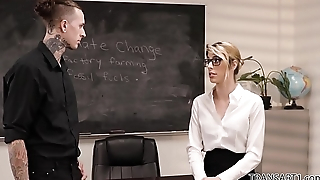 Open minded teacher fucks the school principal - Ruckus and Casey Kisses