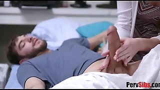 Naughty sister performs dick therapy for sick bro