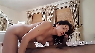 College slut gives perfect deepthroat and ball sucking sloppy blowjob worships and teases cock to swallow all cum desi POV Indian