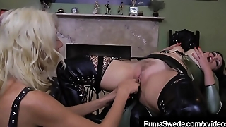 Femdom Amazon Puma Swede Fucks Slave Anastasia Pierce!