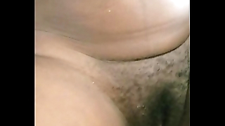 Hot interracial amateur couple cum on belly